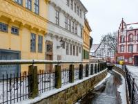 Welterbestadt Quedlinburg im Winter mit Schnee Winterimpressionen_DSF8666