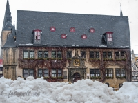 Welterbestadt Quedlinburg im Winter mit Schnee Winterimpressionen_DSF8669