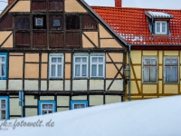 Welterbestadt Quedlinburg im Winter mit Schnee Winterimpressionen_DSF8686