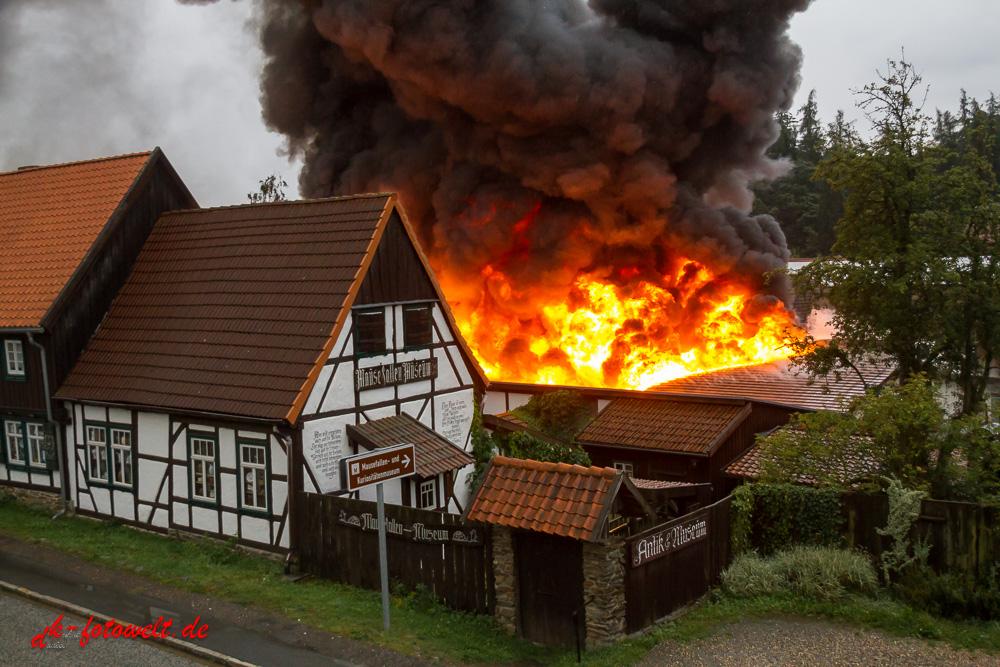 Brand Kaufhalle Güntersberge